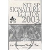 2003 Upper Deck SP Signature Edition Football Hobby Pack