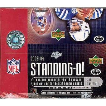 2003 Upper Deck Standing O! Football 24 Pack Box