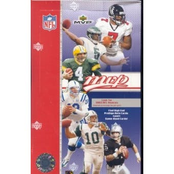 2003 Upper Deck MVP Football Hobby Box