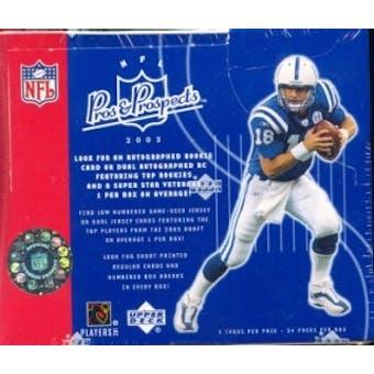 2003 Upper Deck Pros & Prospects Football Hobby Box