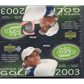 2003 Upper Deck Golf 24 Pack Box