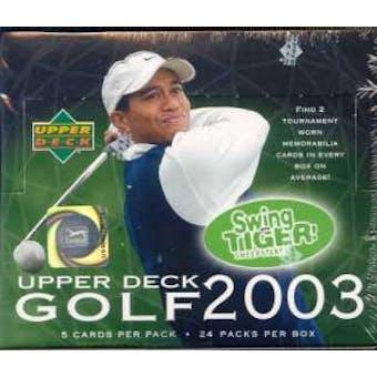 2003 Upper Deck Golf Hobby Box
