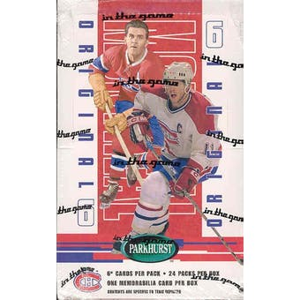 2003/04 BAP Parkhurst Original 6 Montreal Canadiens Hockey Hobby Box
