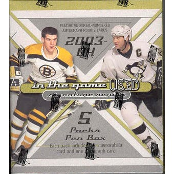 2003/04 Be A Player In the Game Used Hockey Hobby Box