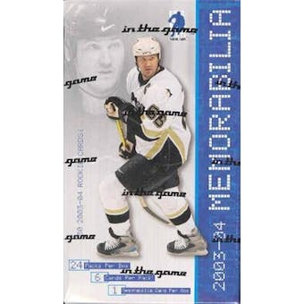 2003/04 Be A Player Memorabilia Hockey Hobby Box