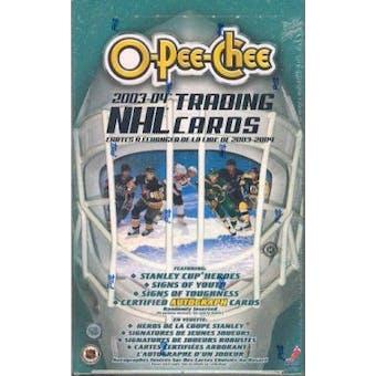 2003/04 O-Pee-Chee Hockey Hobby Box