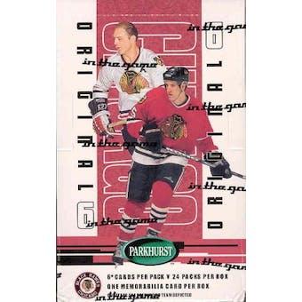2003/04 BAP Parkhurst Original 6 Chicago Blackhawks Hockey Box