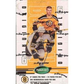 2003/04 BAP Parkhurst Original 6 Boston Bruins Hockey Hobby Box