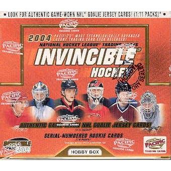 2003/04 Pacific Invincible Hockey Hobby Box