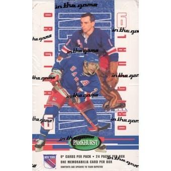 2003/04 BAP Parkhurst Original 6 New York Rangers Hockey Hobby Box