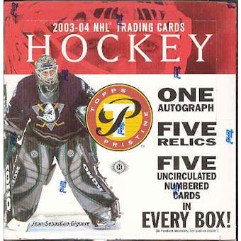 2003/04 Topps Pristine Hockey Hobby Box