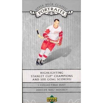 2003/04 Upper Deck Classic Portraits Hockey Box (Sealed Mini Bust)