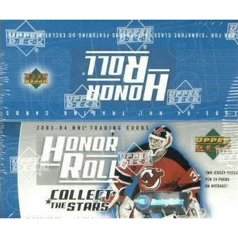 2003/04 Upper Deck Honor Roll Hockey 24 Pack Box