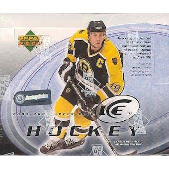 2003/04 Upper Deck Ice Hockey Hobby Box