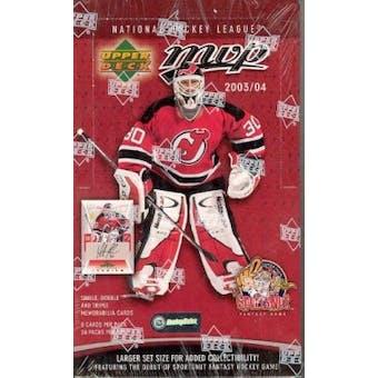 2003/04 Upper Deck MVP Hockey Hobby Box