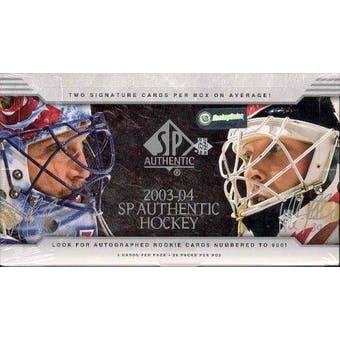 2003/04 Upper Deck SP Authentic Hockey Hobby Box