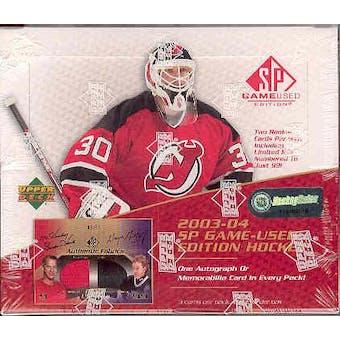 2003/04 Upper Deck SP Game Used Hockey Hobby Box