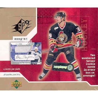 2003/04 Upper Deck SPx Hockey Hobby Box