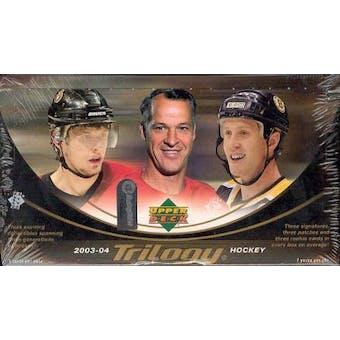 2003/04 Upper Deck Trilogy Hockey Hobby Box