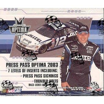2003 Press Pass Optima Racing Hobby Box