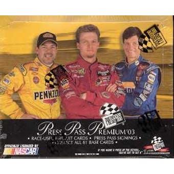 2003 Press Pass Premium Racing Hobby Box