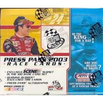 2003 Press Pass Racing Hobby Box