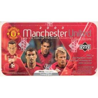 2003 Upper Deck Manchester United Playmaker Soccer Hobby Box