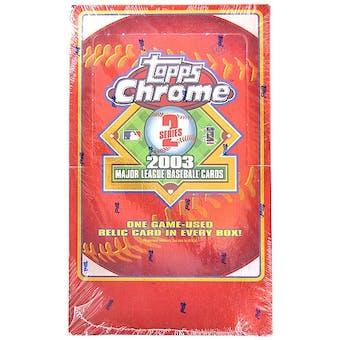 2003 Topps Chrome Series 2 Baseball Hobby Box