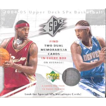 2004/05 Upper Deck SPx Basketball Hobby Box