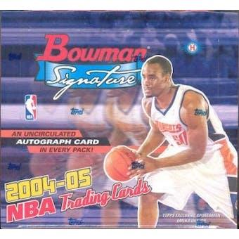 2004/05 Bowman Signature Basketball Hobby Box