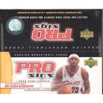 2004/05 Upper Deck Pro Sigs Basketball Hobby Box