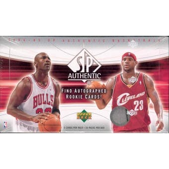 2004/05 Upper Deck SP Authentic Basketball Hobby Box