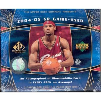 2004/05 Upper Deck SP Game Used Basketball Hobby Box
