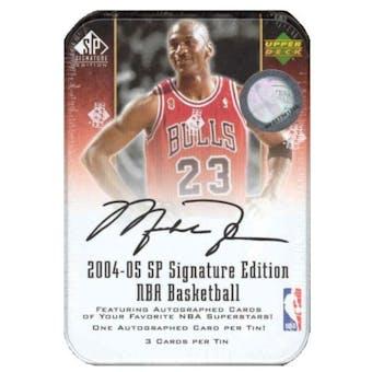 2004/05 Upper Deck SP Signature Basketball Hobby Tin (Box)