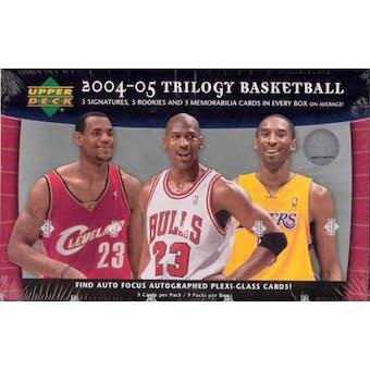 2004/05 Upper Deck Trilogy Basketball Hobby Box