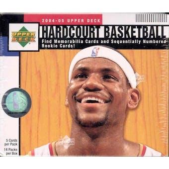 2004/05 Upper Deck Hardcourt Basketball Hobby Box