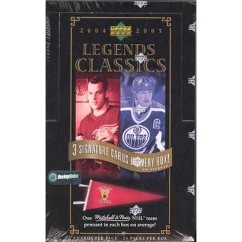 2004/05 Upper Deck Legends Classics Hockey Hobby Box