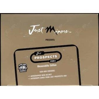 2004 Just Minors Just Prospects Baseball Memorabilia Edition Box