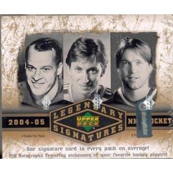 2004/05 Upper Deck SP Legendary Signatures Hockey Hobby Box