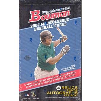 2004 Bowman Baseball Jumbo Box