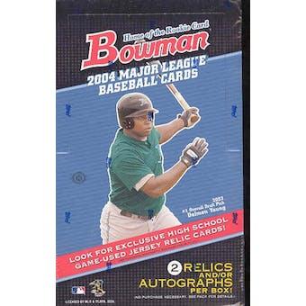 2004 Bowman Baseball Hobby Box