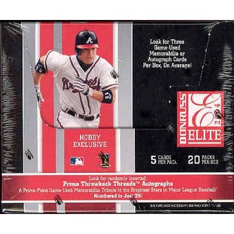 2004 Donruss Elite Baseball Hobby Box
