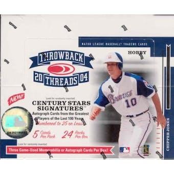 2004 Donruss Throwback Threads Baseball Hobby Box