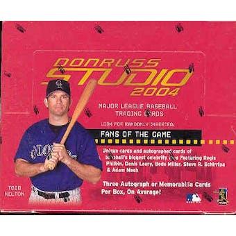 2004 Donruss Studio Baseball Hobby Box