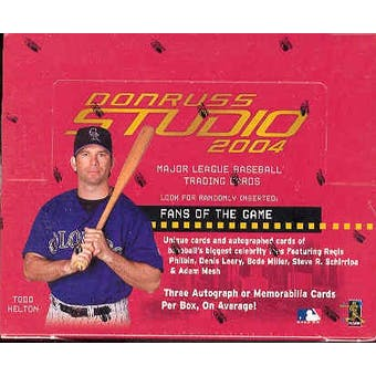 2004 Donruss Studio Baseball Hobby Box