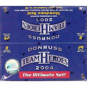 2004 Donruss Team Heroes Baseball 24 Pack Box