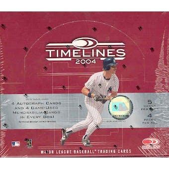 2004 Donruss Timelines Baseball Hobby Box