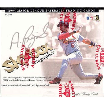 2004 Fleer Skybox Autographics Baseball Hobby Box