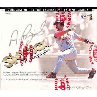 2004 Fleer Skybox Autographics Baseball Hobby Box