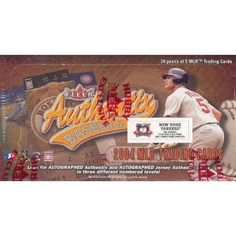2004 Fleer Authentix New York Yankees Baseball Hobby Box